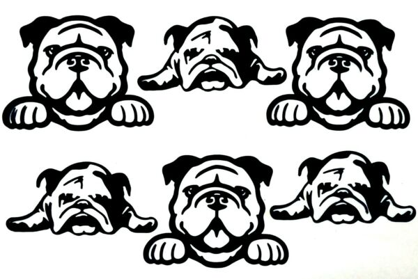 6 ADORABLE PUG PUPPIES DOG DOGS quot;BABY amp; MOMquot; SILHOUETTE DIE CUT CUTS $1.75
