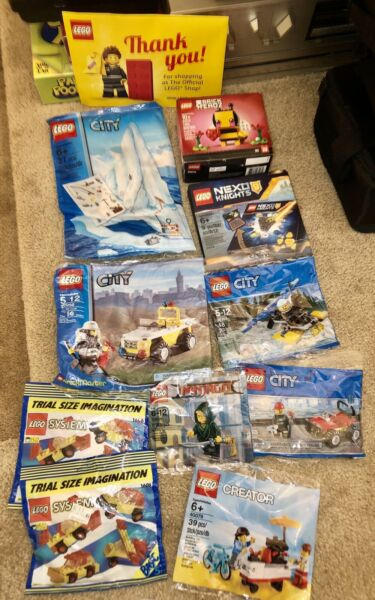 LOT OF 11 SEALED LEGO SETS amp; POLYBAGS 40078 HOT DOG STAND 20002 40270 30609 $64.95