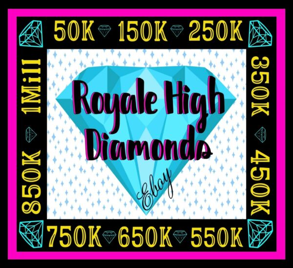 ROYALE HIGH DIAMONDS 50K 1M 🟢 ONLINE NOW RH HALO *READ DESCRIPTION*