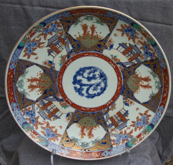 Spectacular early 18th century Japanese Ko Imari Charger