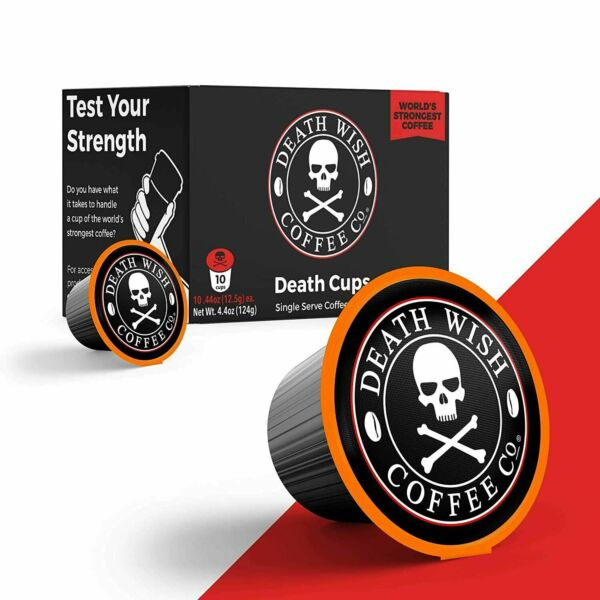3x 10 30 Count DEATH WISH World#x27;s Strongest Single Serve Coffee Keurig Cups