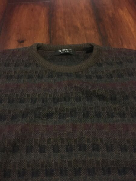 SEGRETO CREWNECK SWEATER SIZE M 100% WOOL STYLED IN ITALY CASUAL DRESS COOGI $40.00