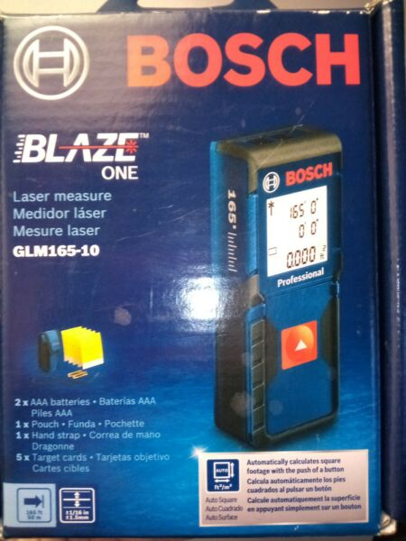 Bosch GLM165 10 Measure Square Feet with push of button medida láser $53.88