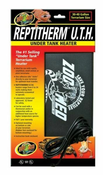 Zoo Med Reptitherm Under Tank Heater 30 40 Gallons Terrarium Size $16.99