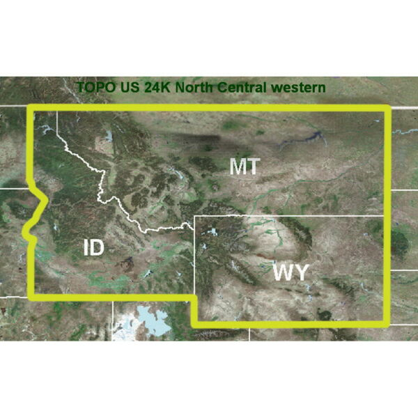 TOPO US 24K Mountain North rmicroSD SD Map Card Covers MT ID WY