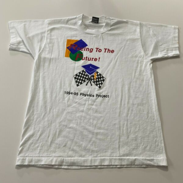 Vintage Screen Stars T Shirt Size L Racing Single Stitch 90s Made In Usa