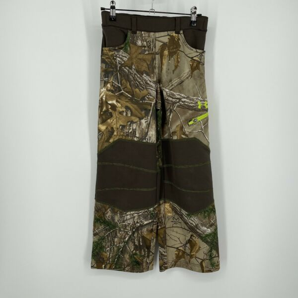 UNDER ARMOUR Cold Gear HUNTING CAMO PANTS Youth Small Scent Control YS