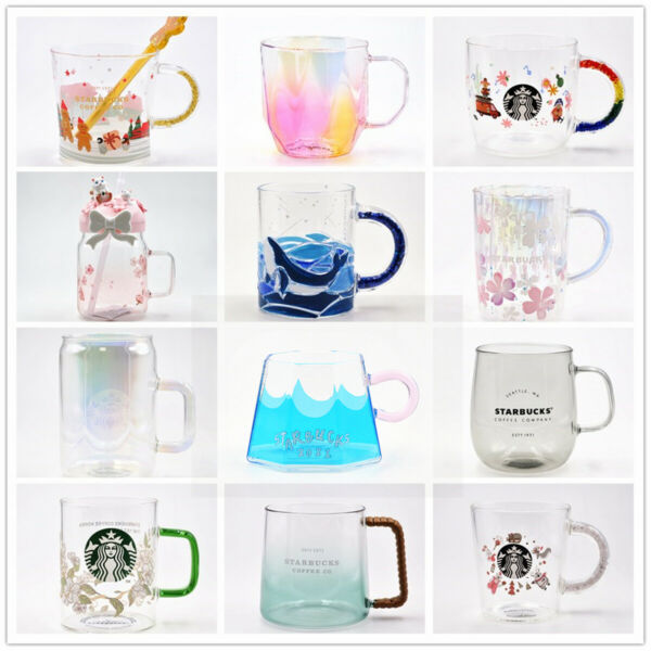 Starbucks mugs coffee cup heat resisting glass cup for hot drinks cold beverages