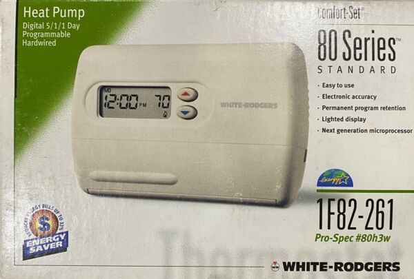 WHITE RODGERS 1F82 261 Programmable Digital Heat Pump Thermostat $49.00