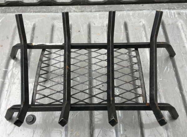 Fireplace Iron Grate Rack 18#x27;#x27; ember retainer fire log cradle wood stand holder