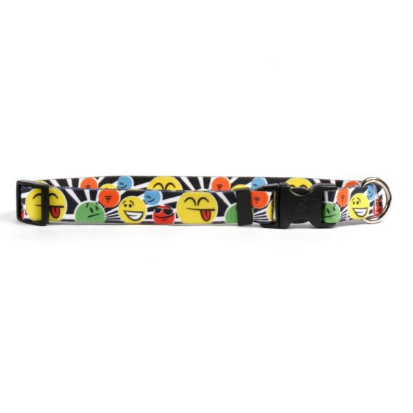 Yellow Dog Design Smiles Dog Collar Size Large 18quot; 28quot; $9.15