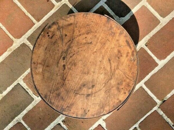 Antique Pantry Box With Lid And Bail Handle