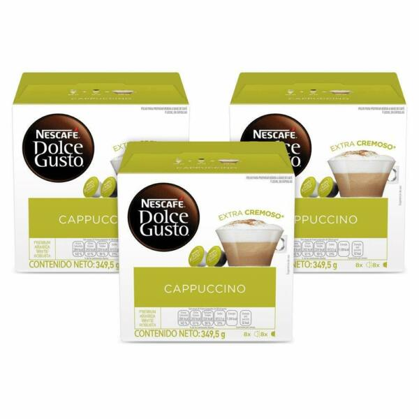 Nescafe Dolce Gusto Cappuccino Coffee 3 Boxes 48 Capsules total 05 2021