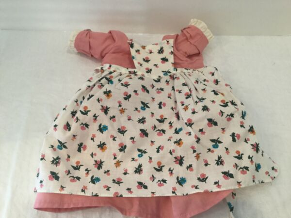 American Girl Felicity doll spring gown pink Dress floral apron 1992 pleasant co