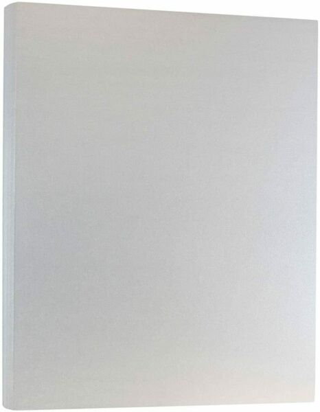 JAM Paper Metallic 110lb Cover Cardstock in Stardream Metallic Silver 50 Sheet