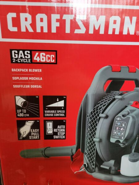 Craftsman Gas 2 Cycle 46cc Backpack Blower CMCXGAAH46BT BRAND NEW