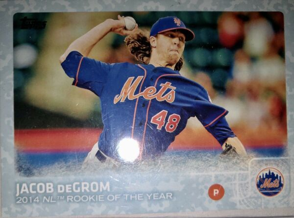 JACOB DEGROM 2015 TOPPS SERIES 2 SNOW CAMO 99 #387 MUST SEE LOOK