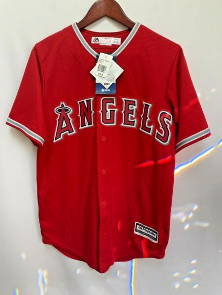 Jered Weaver Angels Majestic Los Angeles Angels Of Anaheim Authentic Red
