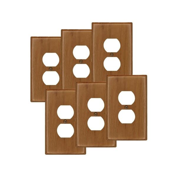 Runwireless Traditional Light Oak Wood Switch plate Wall plate Cover 4 43... $54.42