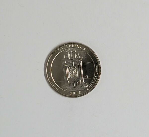 2010 D Hot Springs Quarter. ATB Series Uncirculated From US Mint roll.