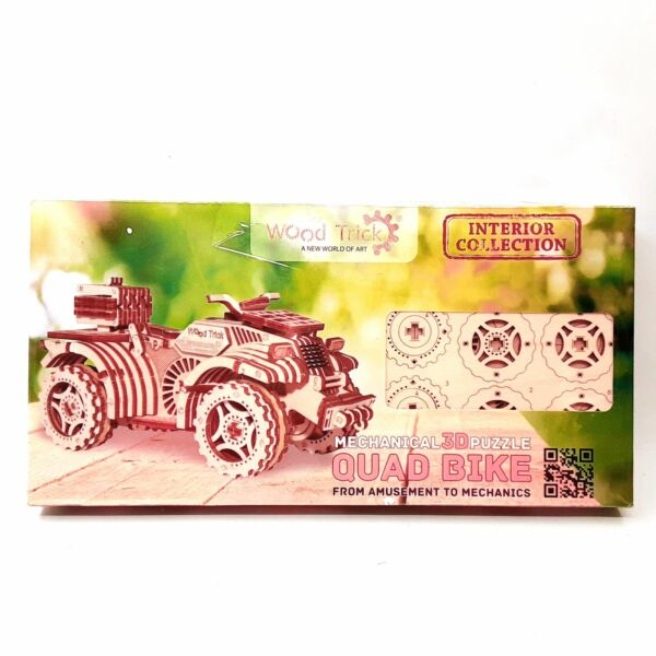 Mechanical 3D Puzzle Quad Bike Wood Trick Interior Collection Brand New Sealed $29.99
