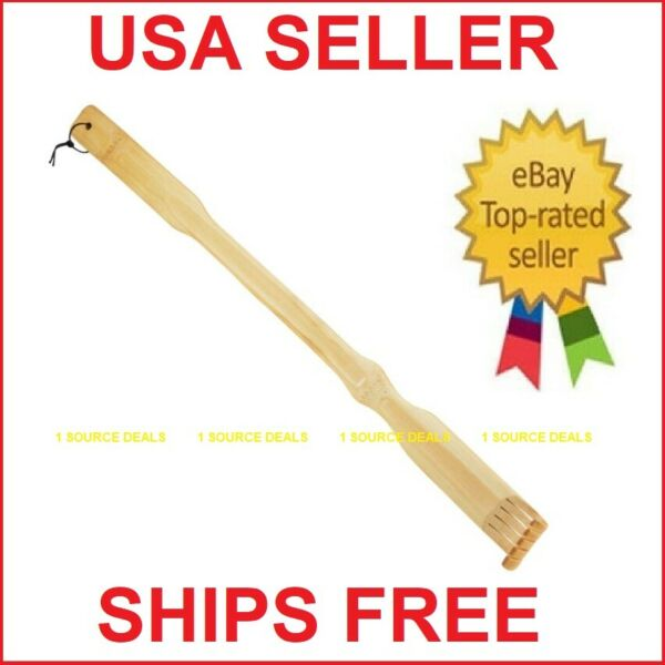 20quot; Bamboo Therapeutic Back Scratcher Long Reach USA SELLER SHIPS FREE NEW $7.49