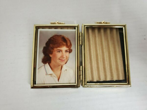 Vintage Small Gold Dual Photo Frame