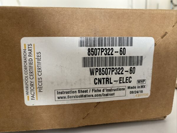 Whirlpool WP8507P322 60 CNTRL ELECTRIC NOT WORKING. $80.00