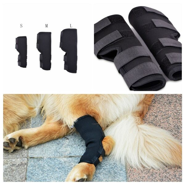 Dog Leg Rear 1 Pair Therapeutic Brace Hock Joint Knee Support Pet Care Tools $8.39