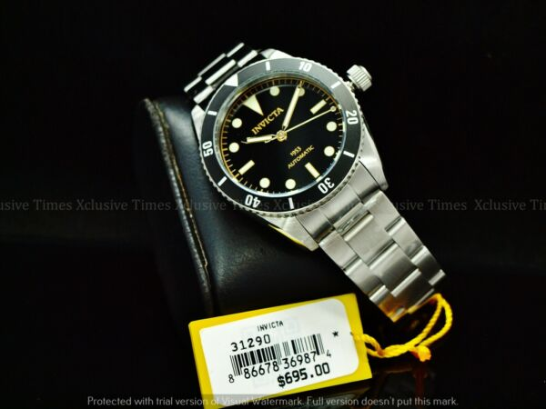 RARE Invicta Men 40mm Pro Diver 1953#x27;s Homage Automatic NH35 Black Dial SS Watch $129.99