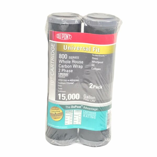Dupont 800 Series Whole House Carbon Wrap Filter 2 Pack Universal Fit WFPFC8002 $12.95