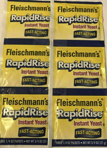 FLEISCHMANN#x27;S Rapid Rise for bread machines 6 1 4 Oz Packs 2 Strips 9 22