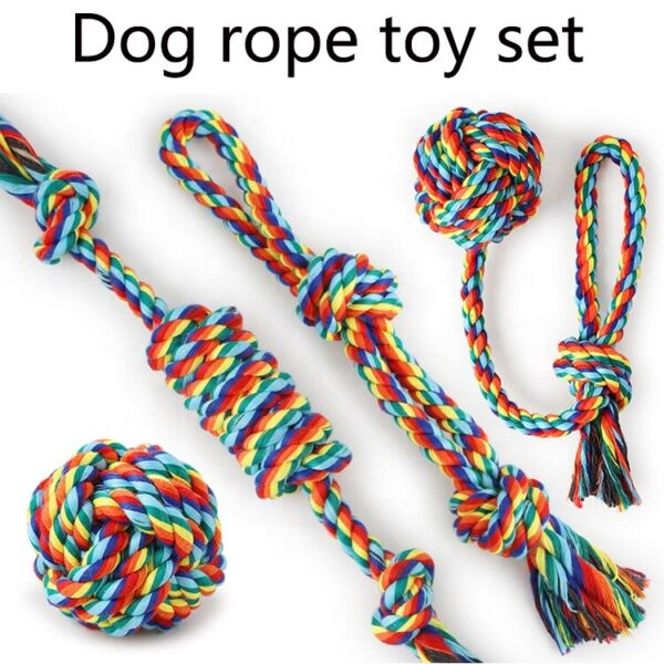 4 Pack Braided Rope Durable Dog Toys for Small Medium Large Dogs Interactive $13.95