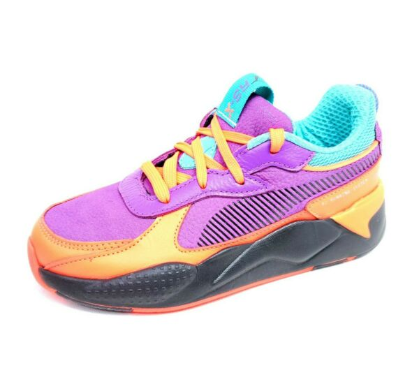 Puma RS X Claw Toddler Size 3C Shoes Athletic Neon Purple Orange Sneakers $28.00