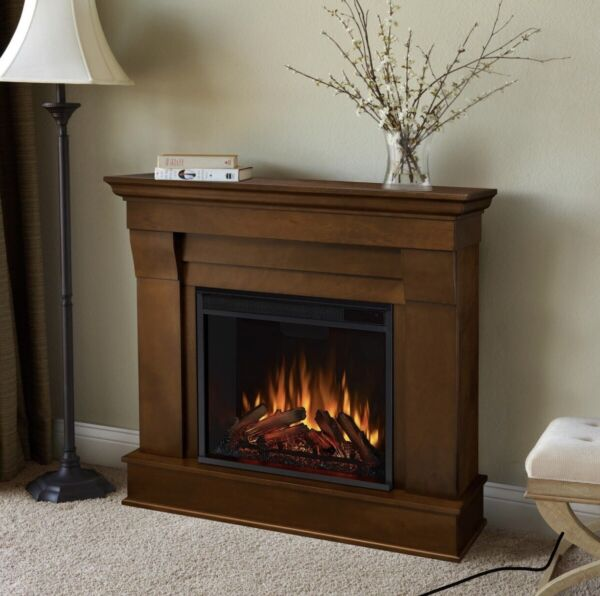 Real Flame Chateau Electric Fireplace in Espresso ONLY BOX 1 Of 2