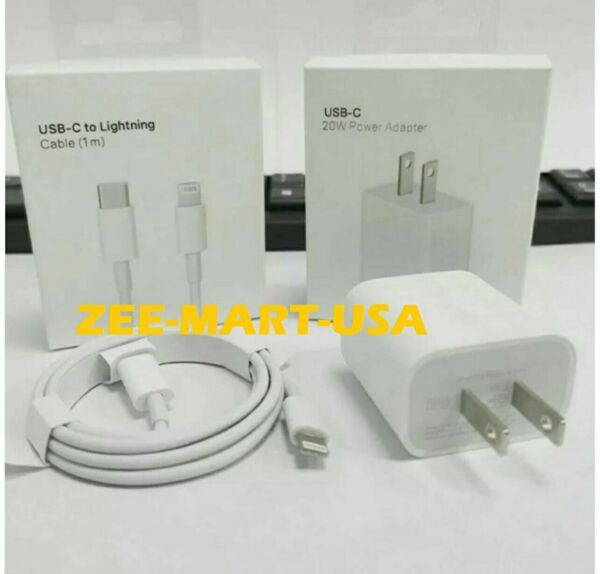 Original Fast Charger 20W USB C Power Adapter Cable Fr iPhone 11 12 Pro Max iPad