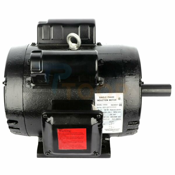 7.5HP Air Compressor Electric Motor Single phase 2 Pole 3450 RPM 184T Frame ODP $343.99