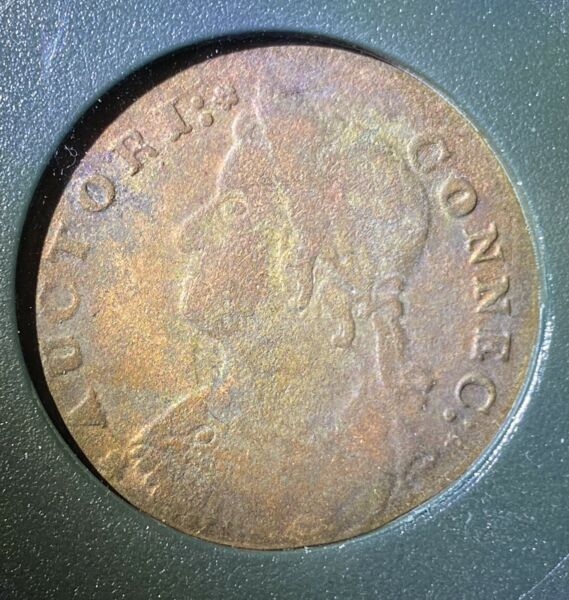 1787 Connecticut Draped Bust Left Colonial Copper Coin