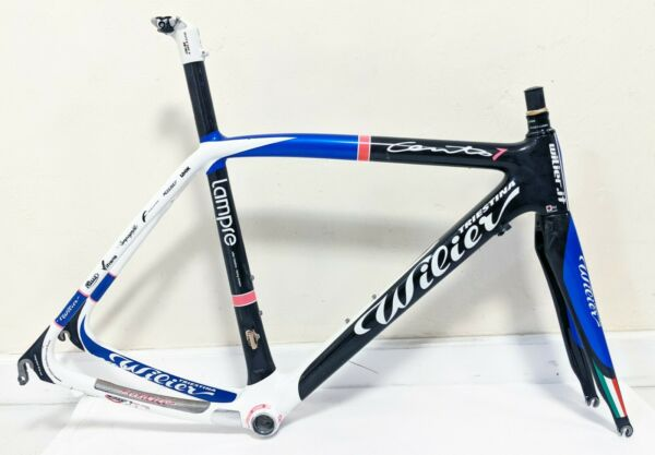 Wilier Triestina Cento 1 Uno Large 55.5 cm Top Tube Lampre Carbon Road Frame $850.00