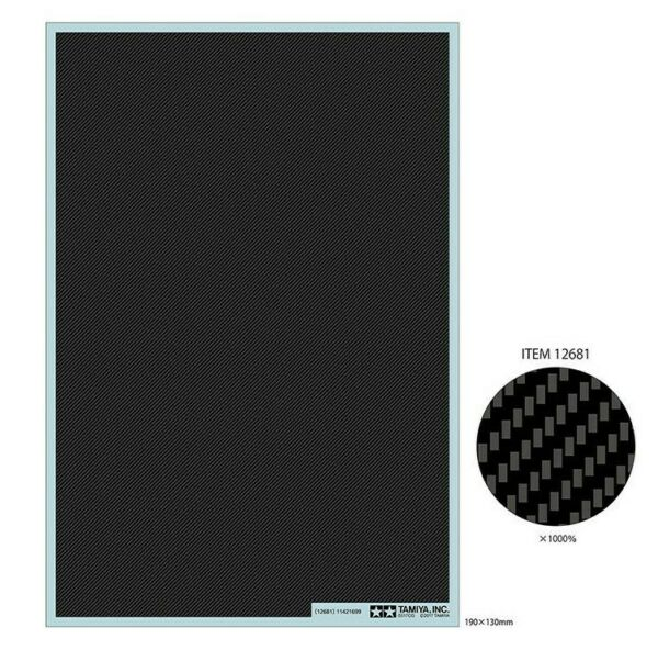Tamiya Detail Up Part CARBON PATTERN DECAL TWILL WEAVE FINE 12681 $16.99
