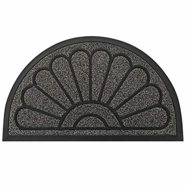 Outdoor Door Mat Half Circle Rubber Doormat Durable Welcome Entrance Patio Deck