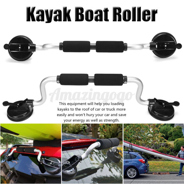 Kayak Boat Roller Boat Canoes Load Assist Car Roof Rack Suction Cup Mount $43.80