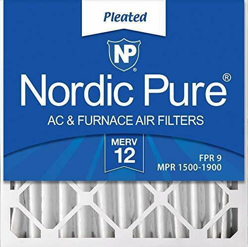 Nordic Pure 20x20x4 MERV 12 Pleated AC Furnace Air Filters 2 Pack $66.38