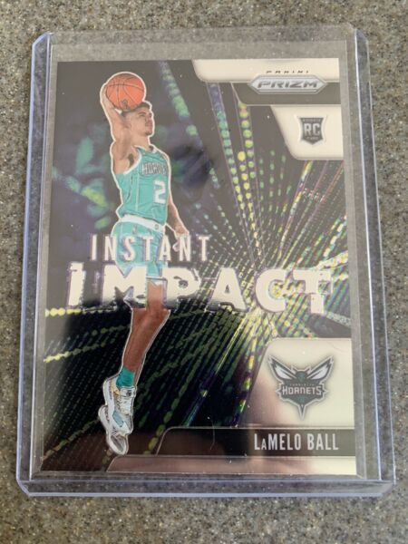 2020 Panini Prizm Basketball Card #21 Lamelo Ball Rookie Instant Impact $19.99