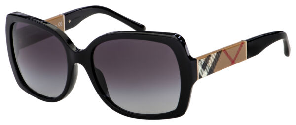 Burberry Sunglasses BE 4160 34338G 58 Black Grey Gradient Lens $114.50