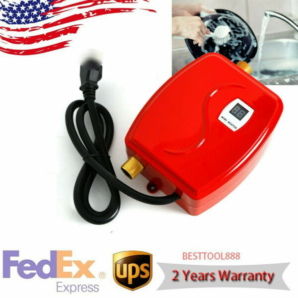 3KW Electric Water Heater Tankless Insant Heating Anti rust 304 Stainless Steel $46.51