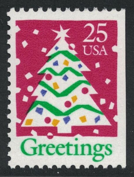 Scott 2516 Greetings Christmas Tree Booklet Issue MNH 25c 1990 mint stamp