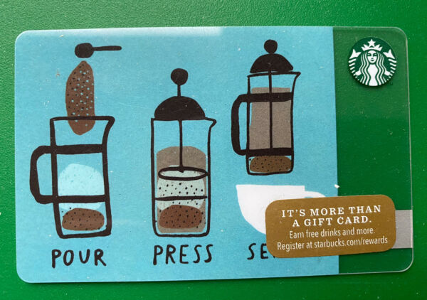 Pour Press Serve 2014 Starbucks Gift Card Holiday Issue Mint Free Shipping