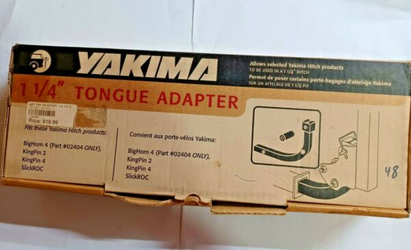 Yakima 1 1 4quot; Tongue Adapter Only Fits Selected Yakima 2quot; Hitch Products $11.99