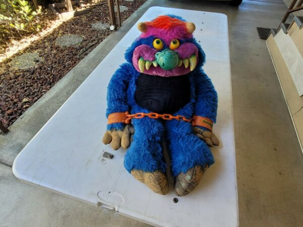 Vintage 1986 My Pet Monster Large 24quot; Toy With Cuffs AmToy 80s Stuffed Animal $200.00